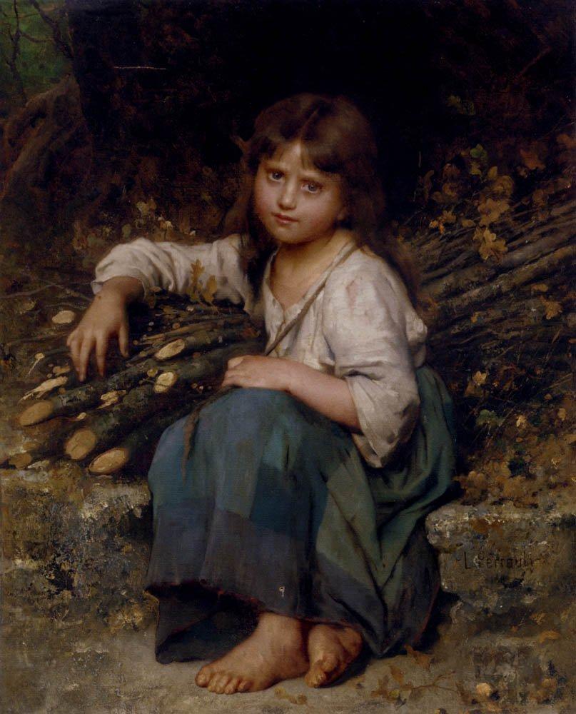 La Fille Du Bucheron 1883 | Leon Bazile Perrault | oil painting