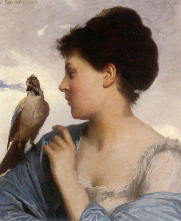 The Bird Charmer 1873 | Leon Bazile Perrault | oil painting