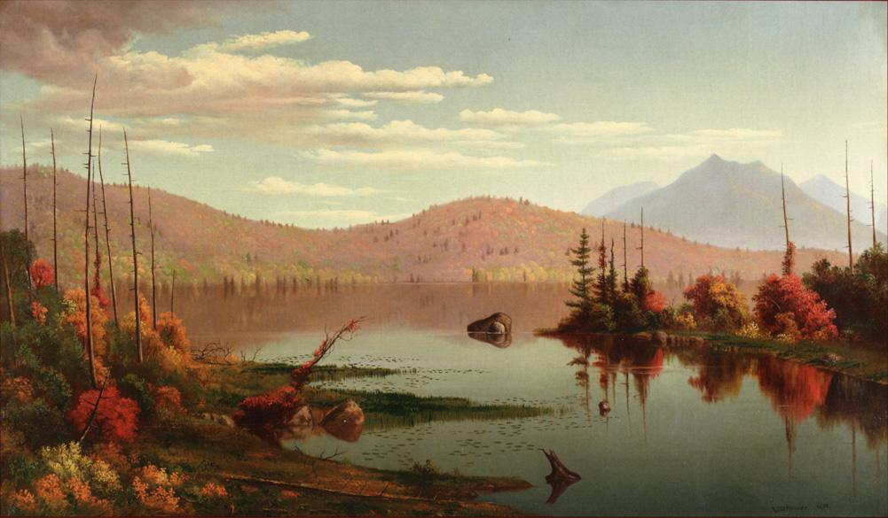 A Lake in the Mountains 1874 | Levi Wells Prentice | oil painting