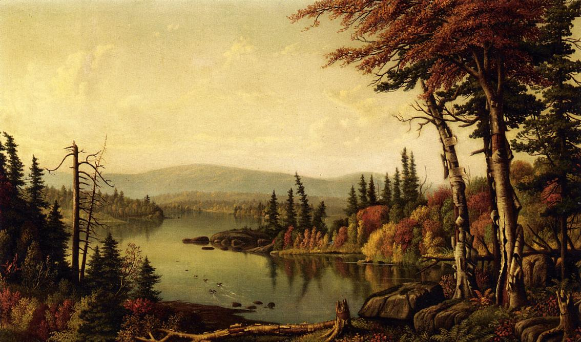 Raquette Lake 1883 | Levi Wells Prentice | oil painting