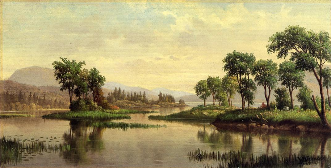 Adirondack Lake Date unknown | Levi Wells Prentice | oil painting