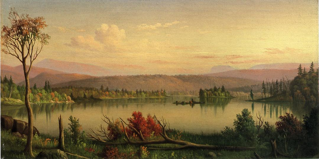 Blue Mountain Lake Date unknown | Levi Wells Prentice | oil painting