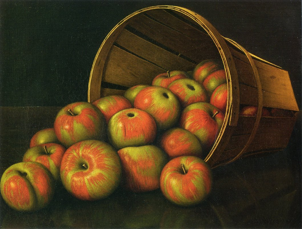 Basket of Apples 1890 | Levi Wells Prentice | oil painting