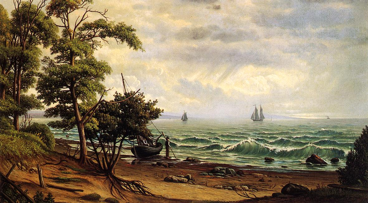 Clearing off the Coast of Maine Date unknown | Levi Wells Prentice | oil painting