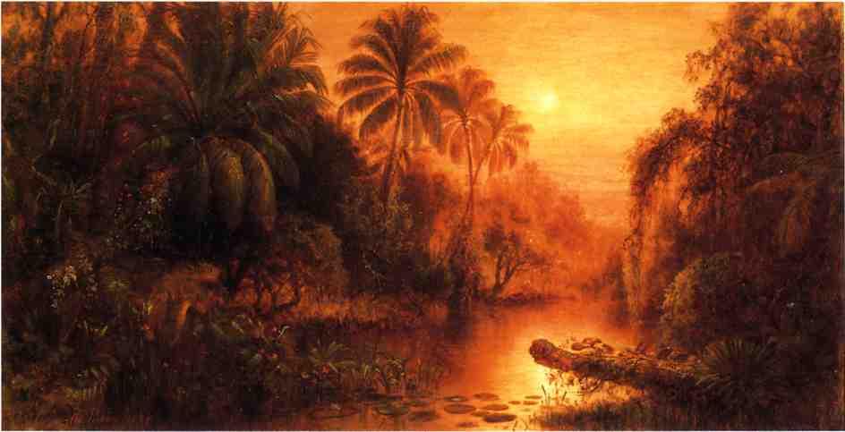 Sunset in the Tropics 1886 | Levi Wells Prentice | oil painting