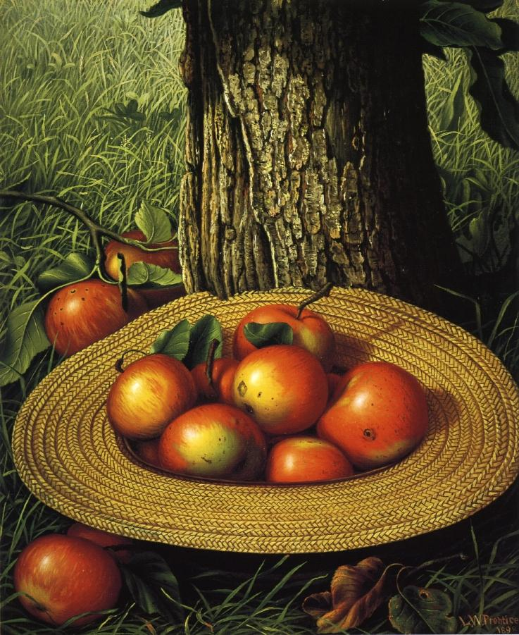Apples Hat and Tree 1898 | Levi Wells Prentice | oil painting