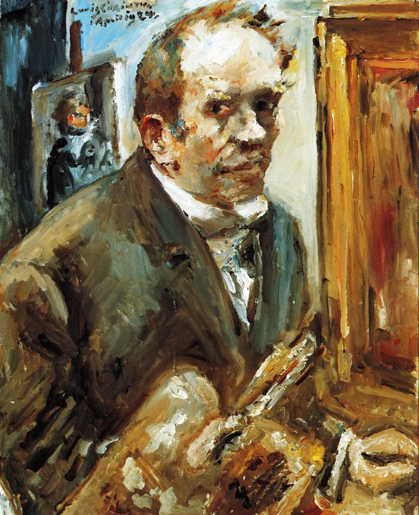 Self Portrait with Palette | Lovis Corinth | oil painting