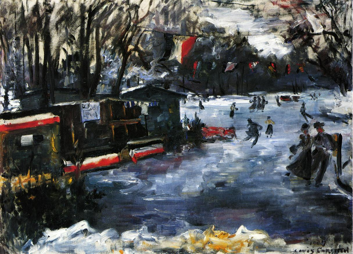 Ice Skating Rink in The Tiergarten Berlin | Lovis Corinth | oil painting