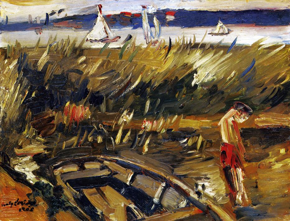 Punt in the Reeds at Muritzsee | Lovis Corinth | oil painting