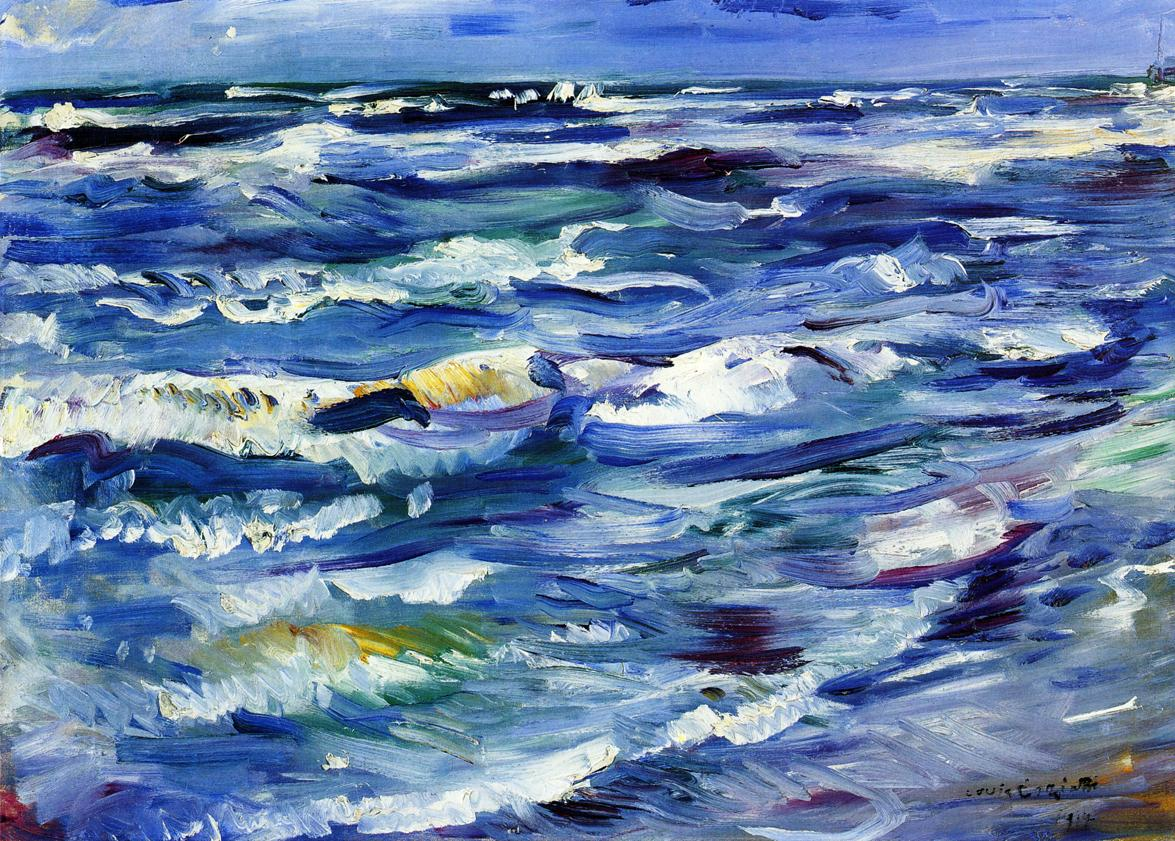 The Sea near La Spezia | Lovis Corinth | oil painting