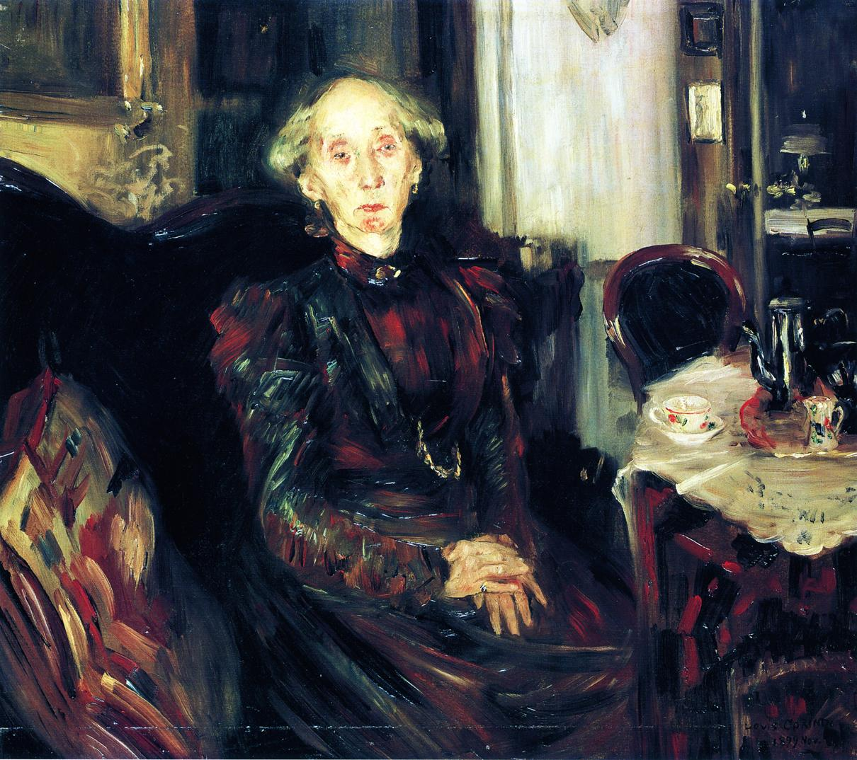 Portrait of Rosenhagens Mother | Lovis Corinth | oil painting