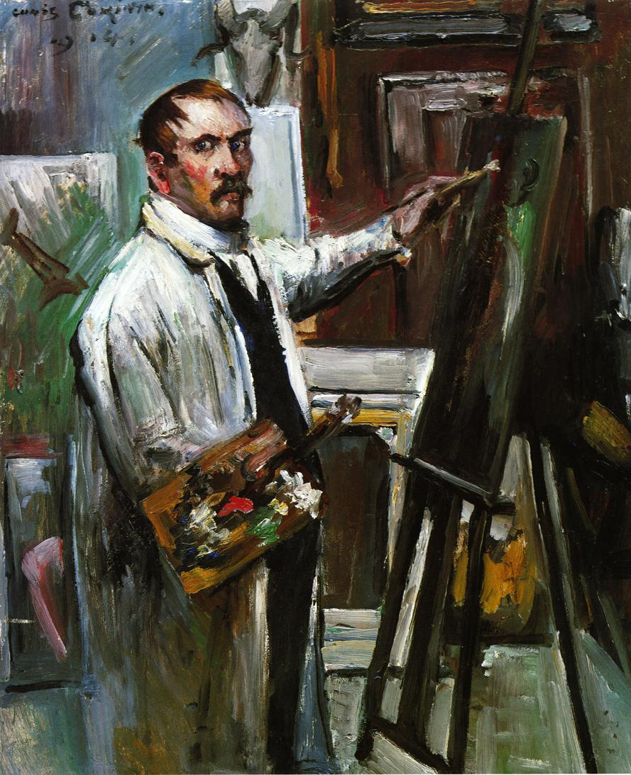 Self Portrait in the Studio | Lovis Corinth | oil painting