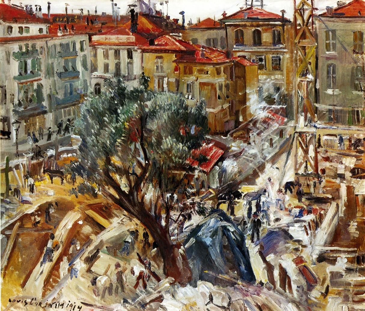Building Under Construction in Monte Carlo | Lovis Corinth | oil painting