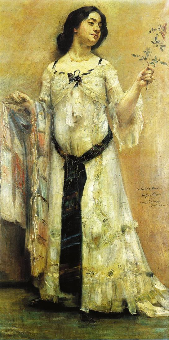 Portrait of Charlotte Berend in a White Dress | Lovis Corinth | oil painting