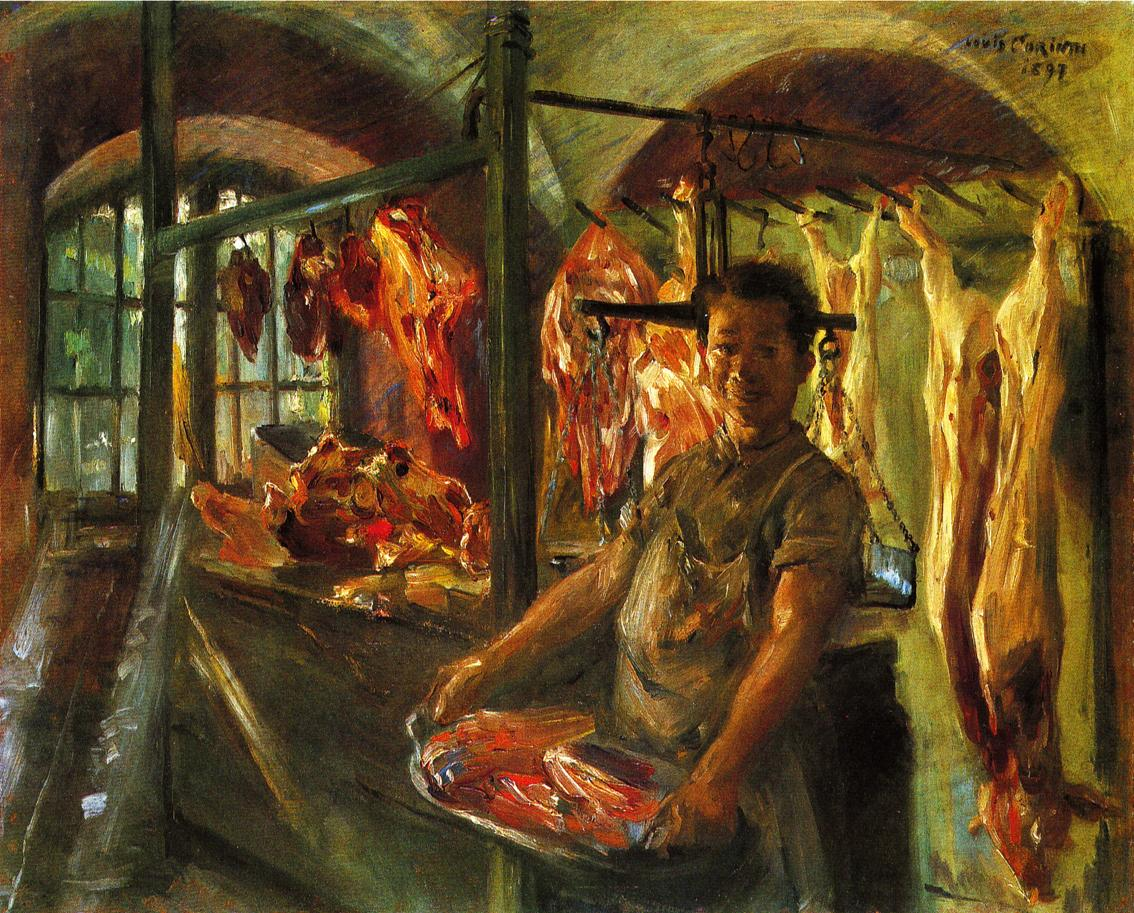 Butchers Shop at Schaftlarn an der Isar | Lovis Corinth | oil painting