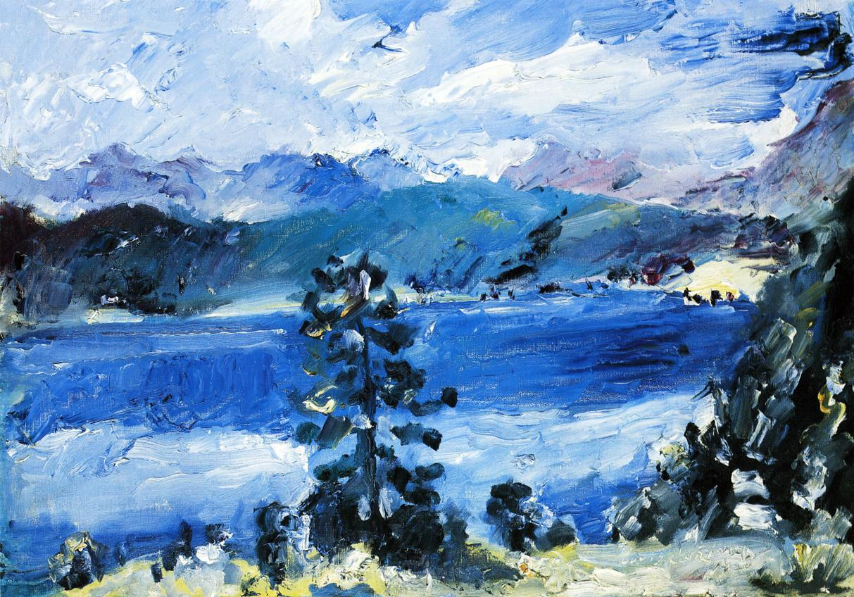 The Walchensee with a Larch Tree | Lovis Corinth | oil painting