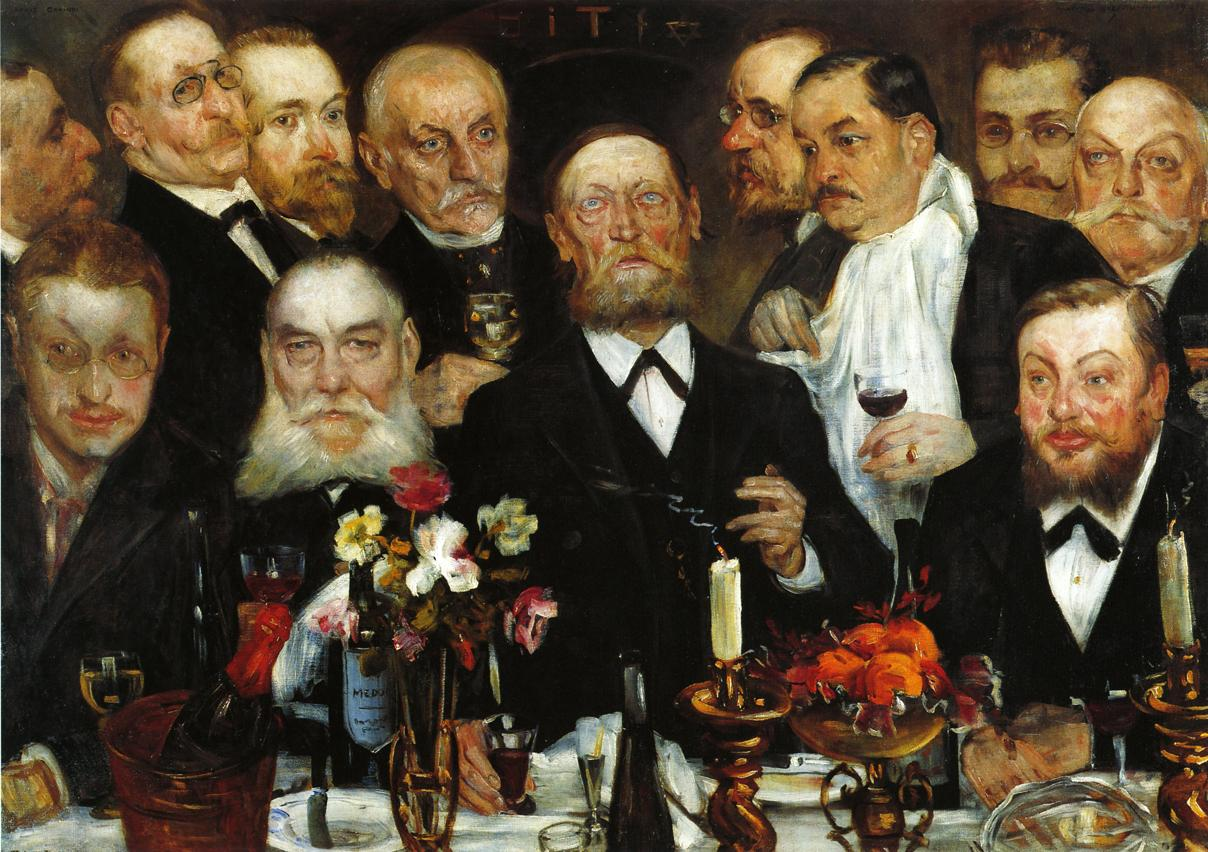 The Freemasons | Lovis Corinth | oil painting