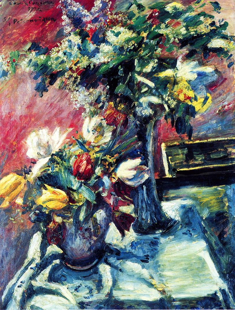 Lilac and Tulips | Lovis Corinth | oil painting