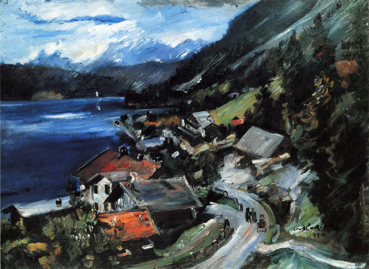 The Walchensee Serpentine | Lovis Corinth | oil painting