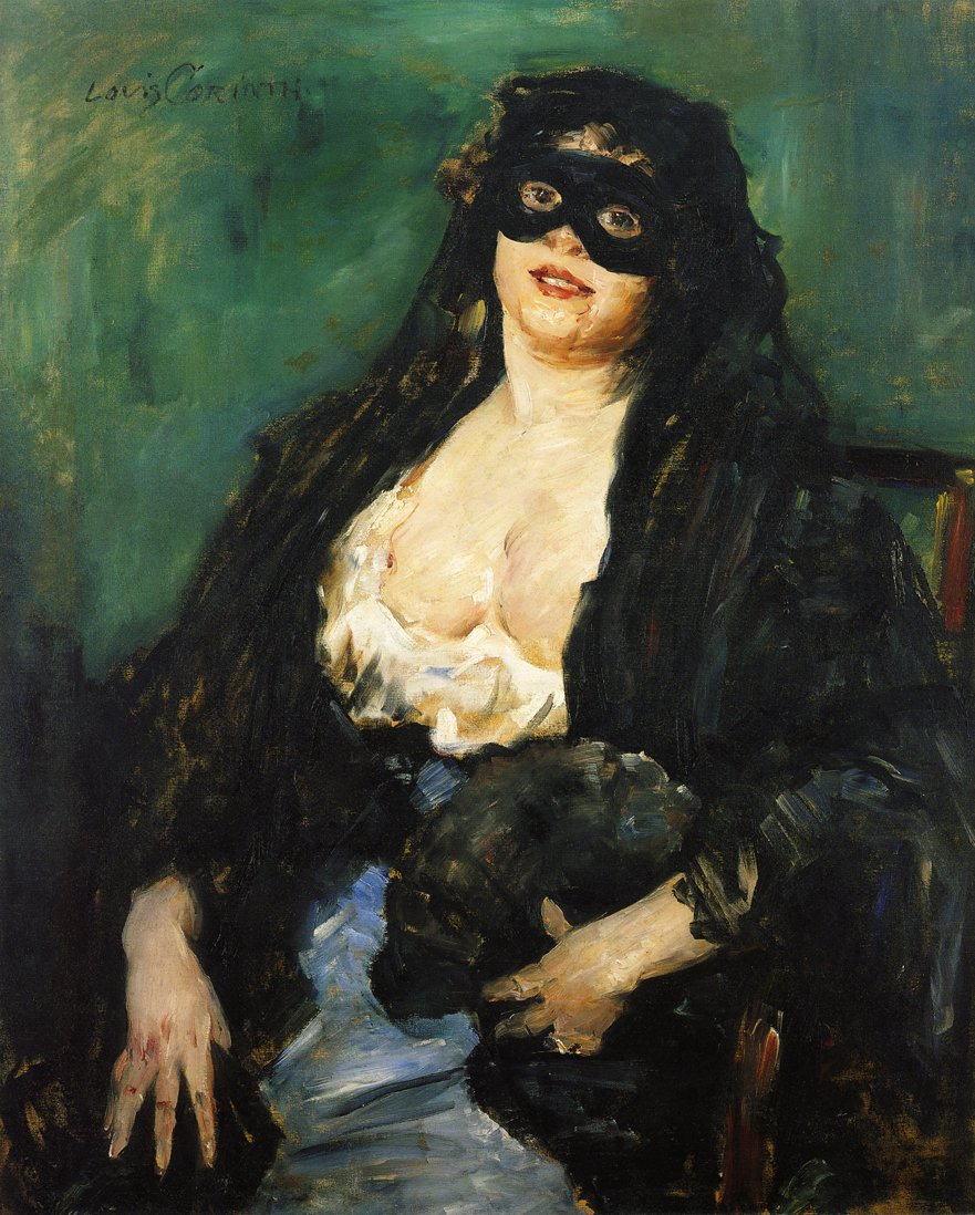 The Black Mask | Lovis Corinth | oil painting