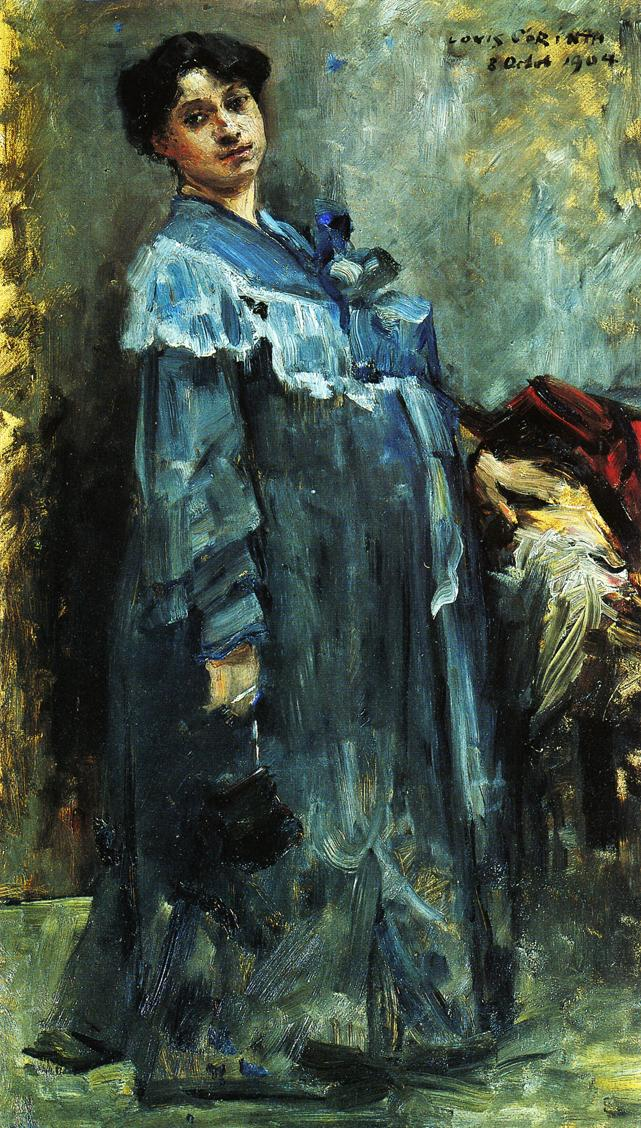In a Silk Robe | Lovis Corinth | oil painting