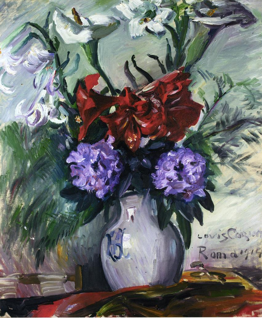 Roman Flowers in a Jug | Lovis Corinth | oil painting