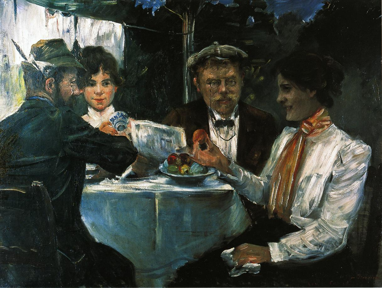 In Max Halbes Garden | Lovis Corinth | oil painting