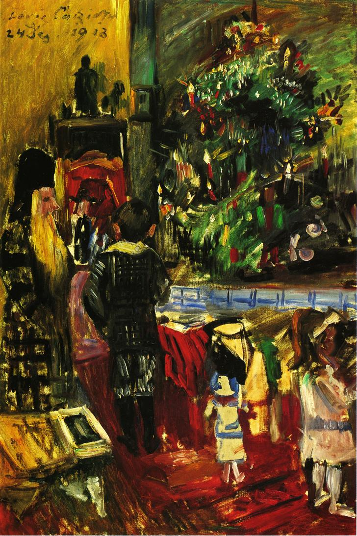 Distributing Christmas Presents | Lovis Corinth | oil painting