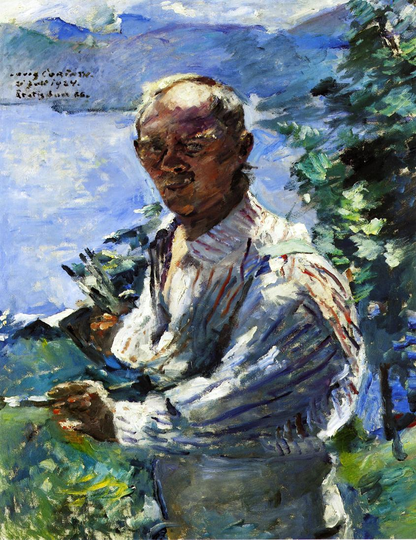 Large Self Portrait at the Walchensee | Lovis Corinth | oil painting