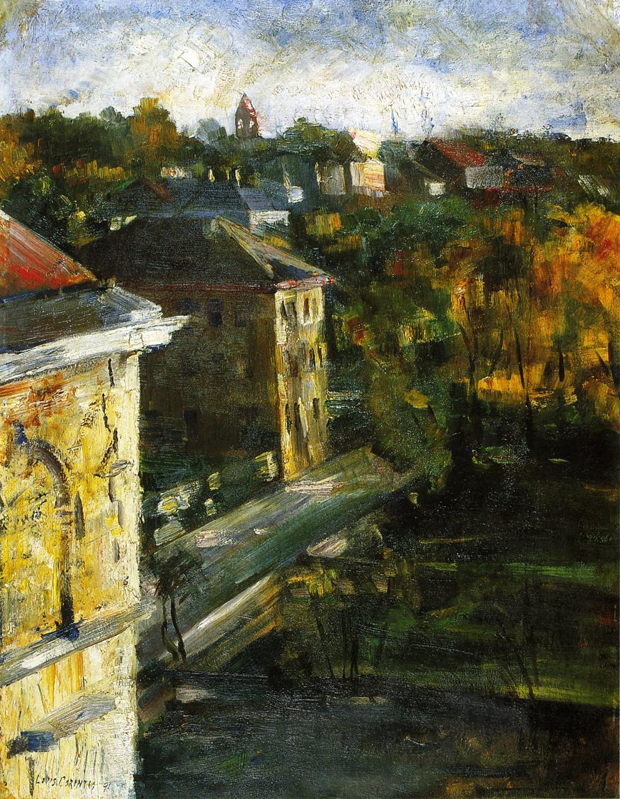 View from the Studio Window | Lovis Corinth | oil painting