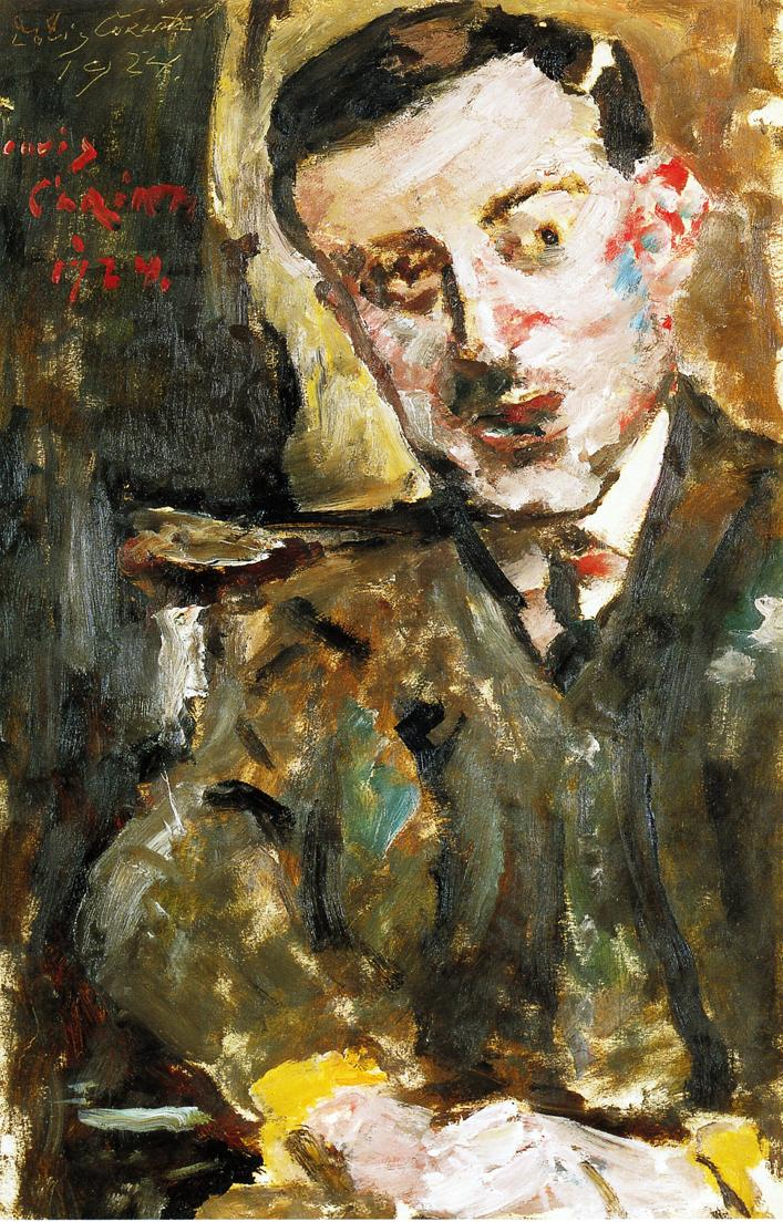 Portrait of Dr Arthur Rosin in a Chair | Lovis Corinth | oil painting