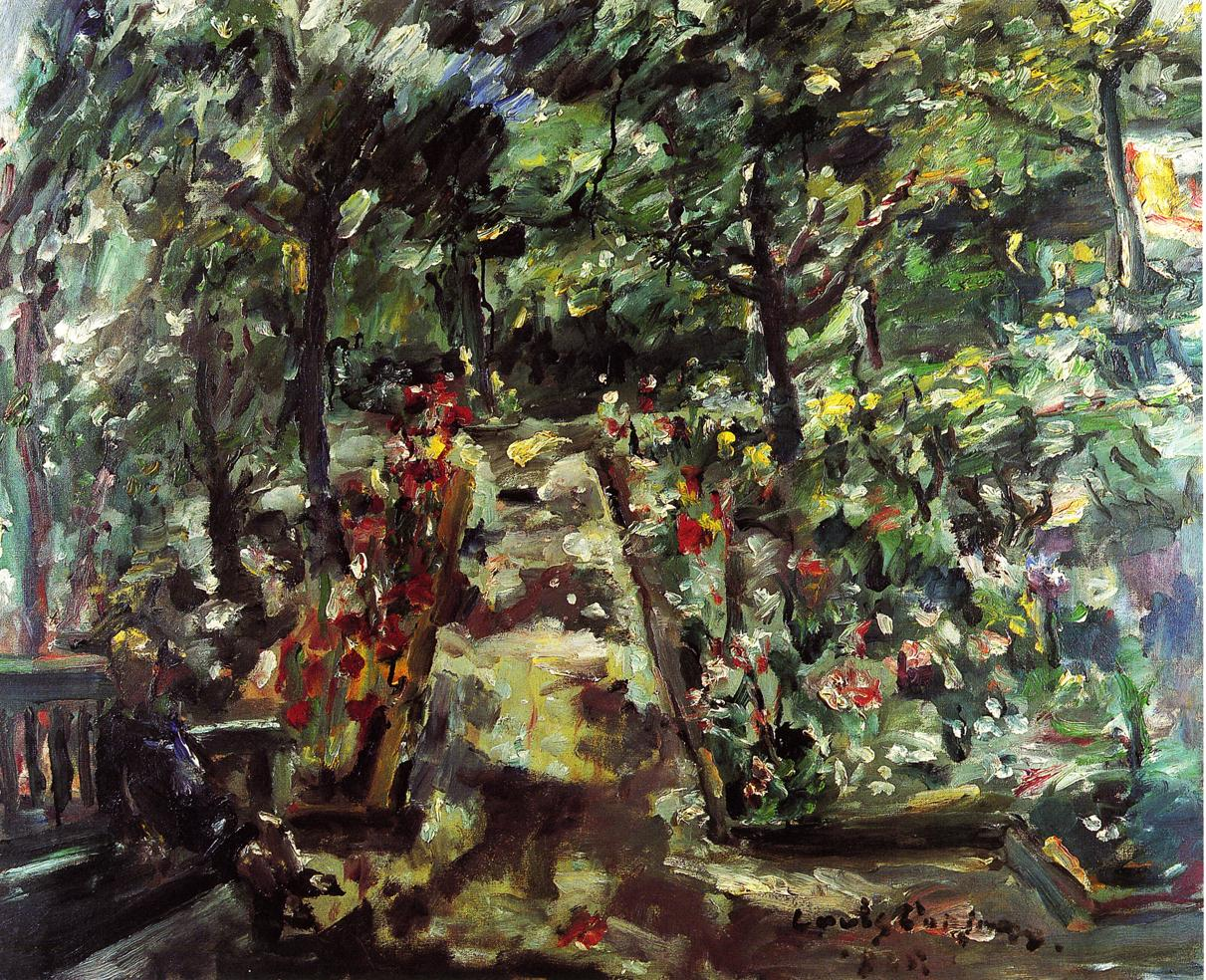 Garden in the West End of Berlin | Lovis Corinth | oil painting