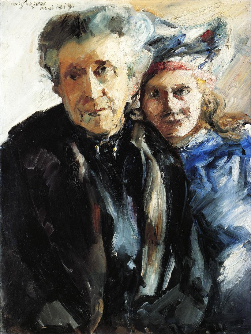 Grandmother and Granddaughter | Lovis Corinth | oil painting