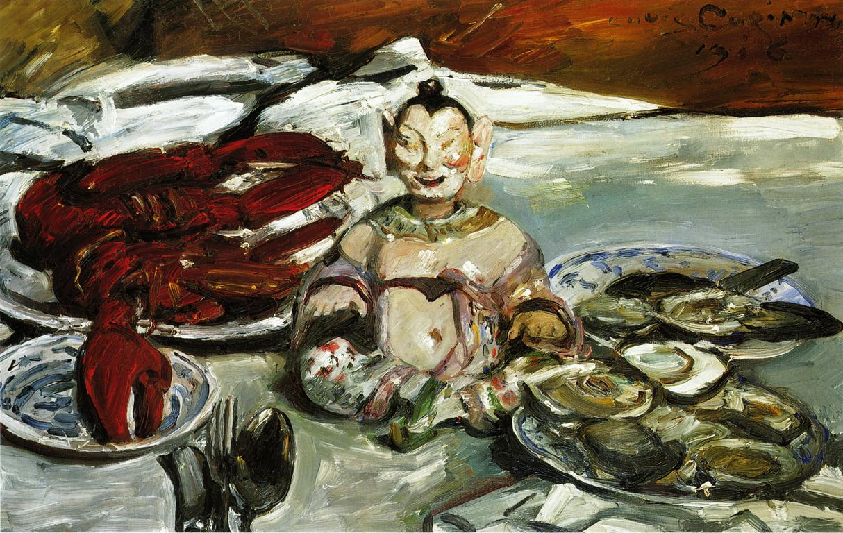 Still Life with Buddha Lobsters and Oysters | Lovis Corinth | oil painting