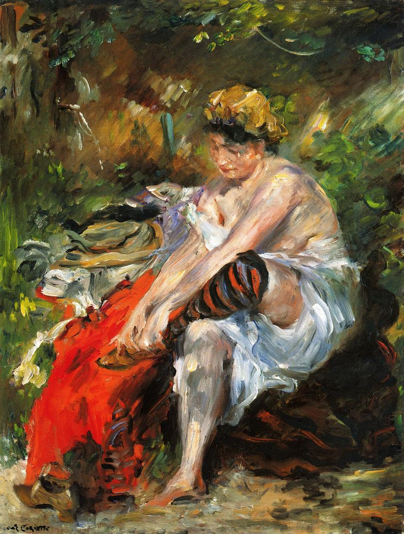 After the Bath | Lovis Corinth | oil painting