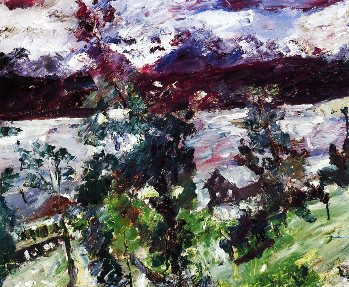 The Walchensee New Snow | Lovis Corinth | oil painting