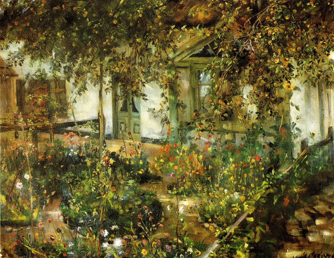 Farmyard in Bloom | Lovis Corinth | oil painting