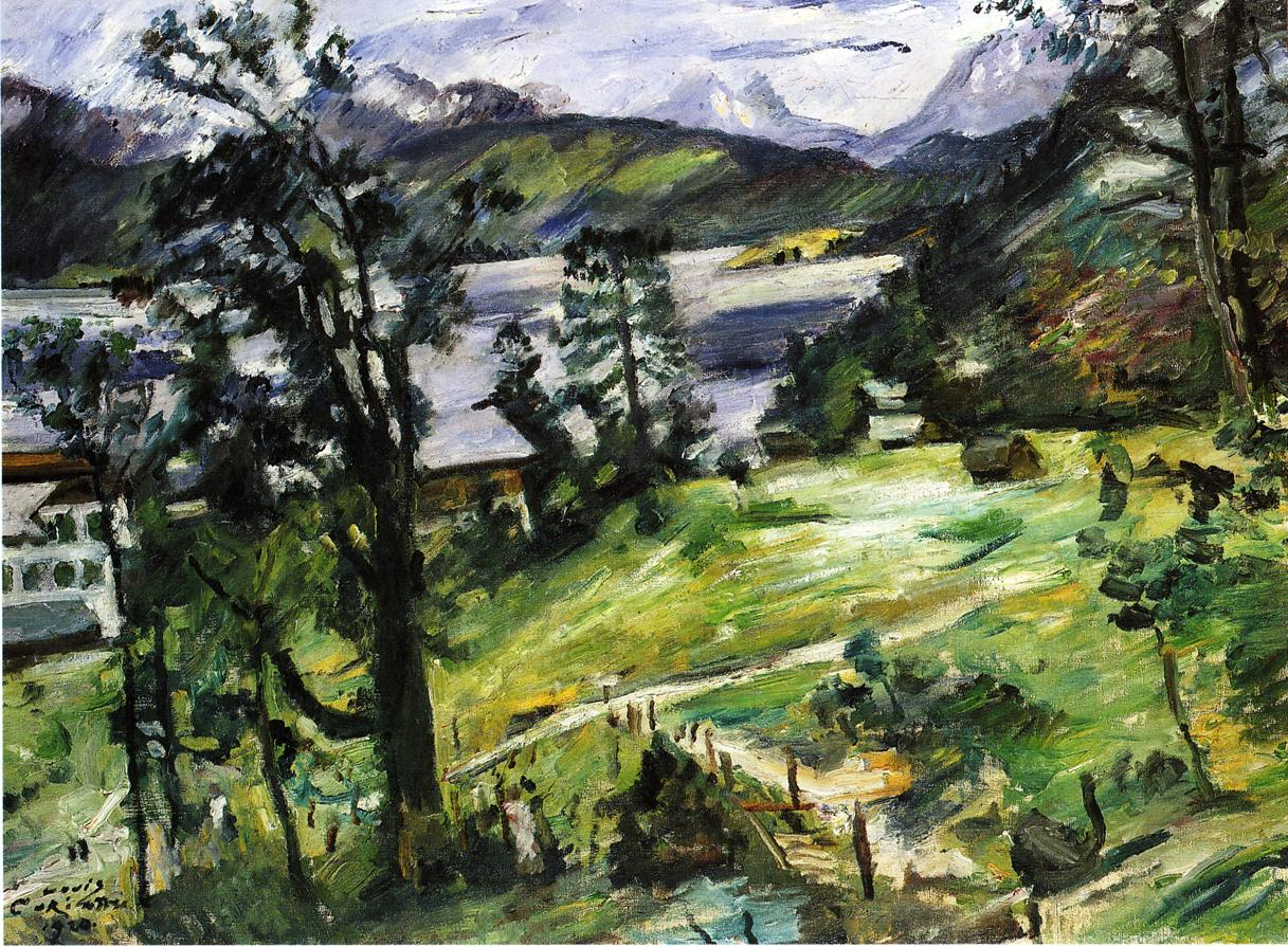 Walchensee Landscape with a Larch | Lovis Corinth | oil painting