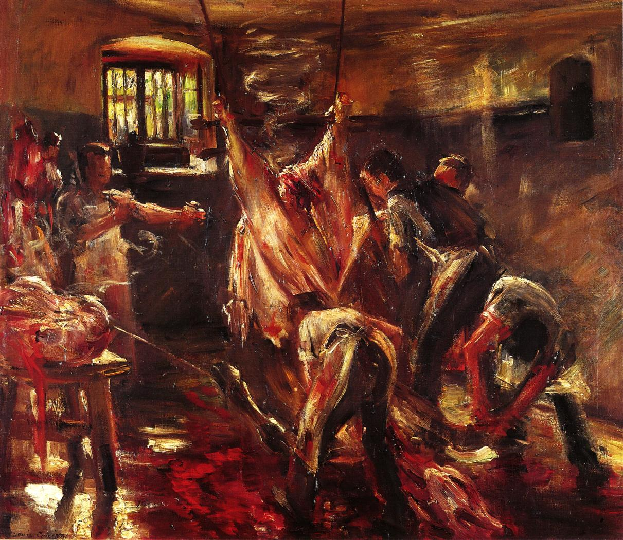 In the Slaughter House | Lovis Corinth | oil painting