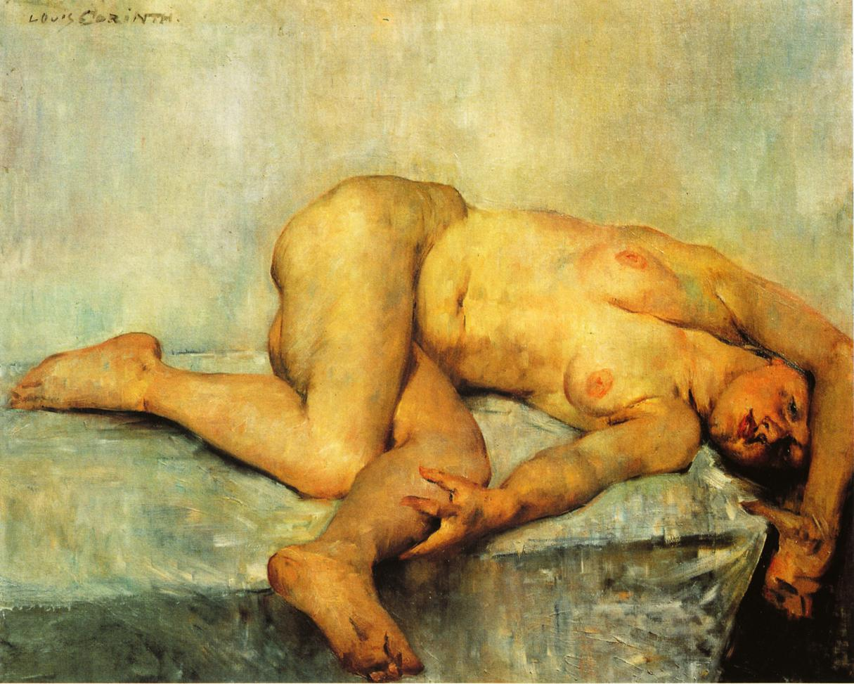 Reclining Female Nude | Lovis Corinth | oil painting