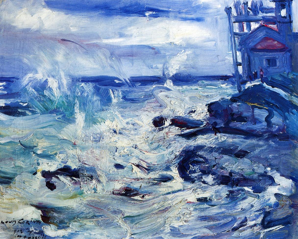 Storm at Capo dAmpeglio | Lovis Corinth | oil painting