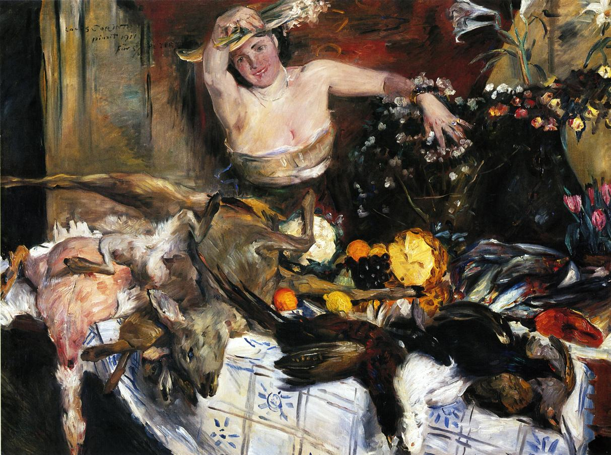 Large Still Life with Figure | Lovis Corinth | oil painting