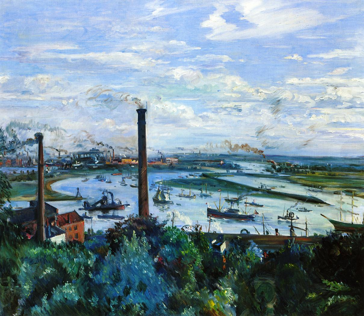 View of the Kohlbrand Hamburg | Lovis Corinth | oil painting