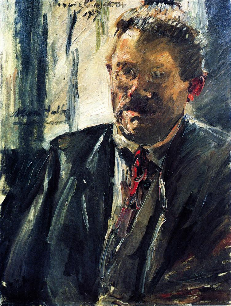Portrait of Max Halbe | Lovis Corinth | oil painting