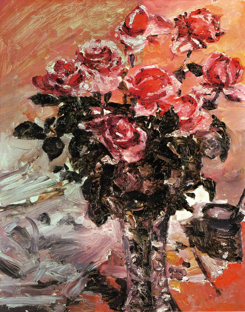 Pink Roses | Lovis Corinth | oil painting