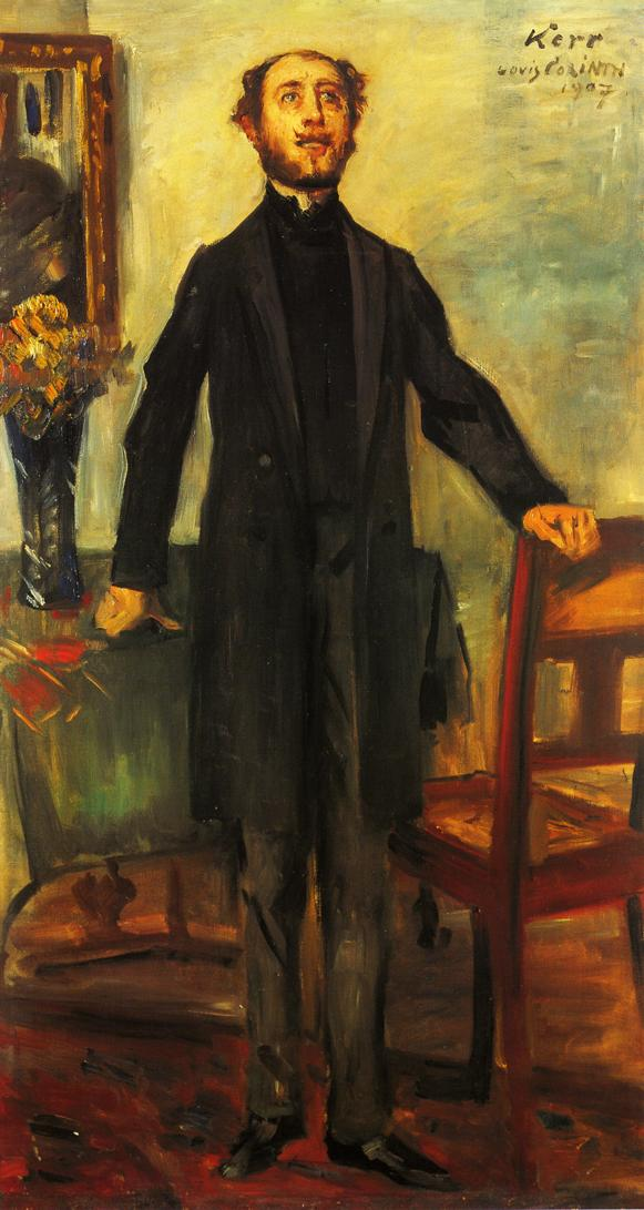 Portrait of Alfred Kerr | Lovis Corinth | oil painting