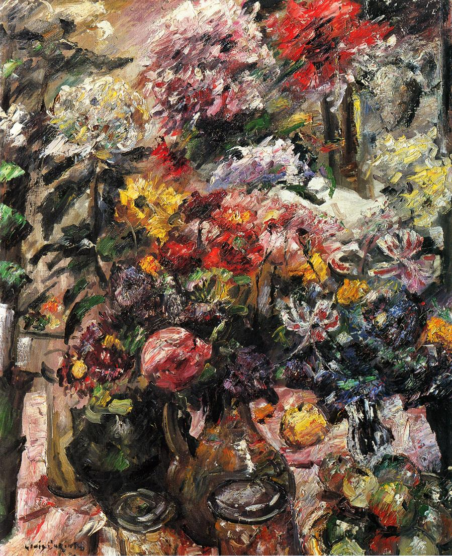 Still Life with Chrysanthemms and Amaryllis | Lovis Corinth | oil painting