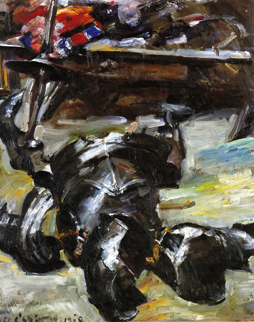 Armour in the Studio | Lovis Corinth | oil painting