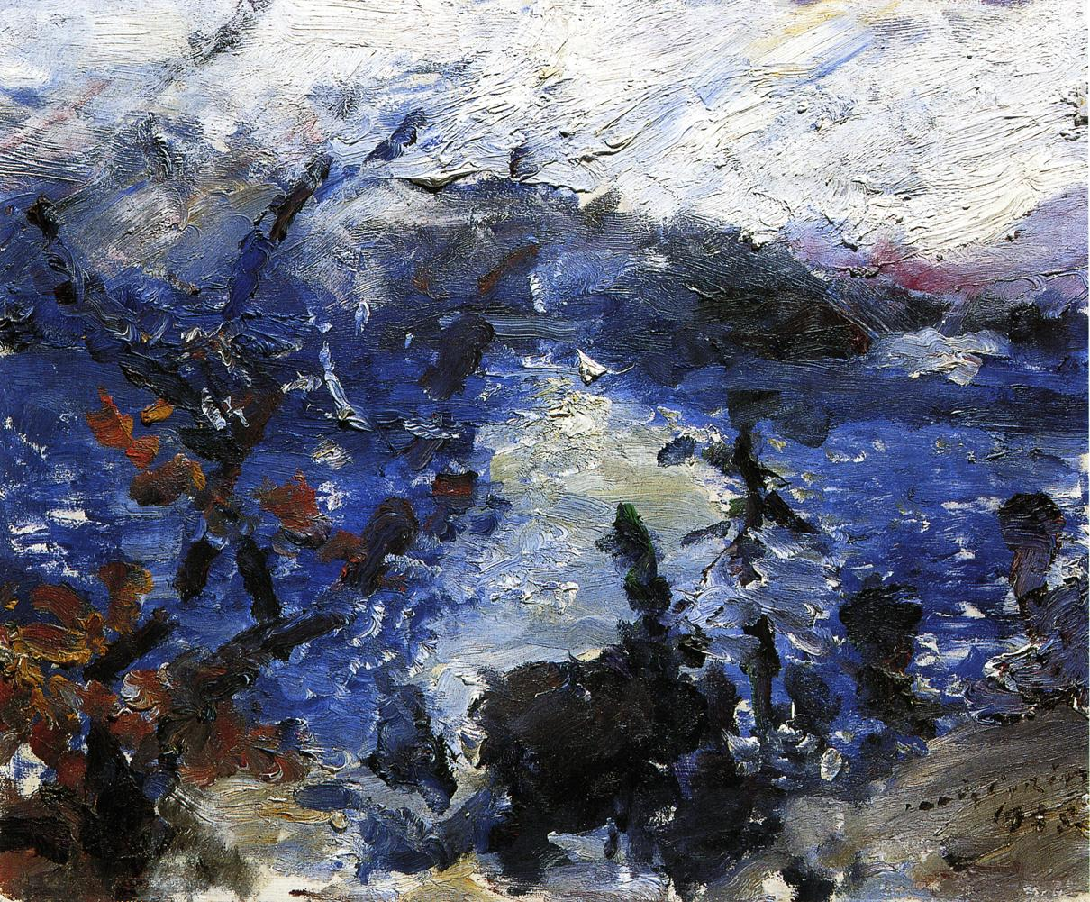 The Walchensee Mountains Wreathed in Cloud | Lovis Corinth | oil painting