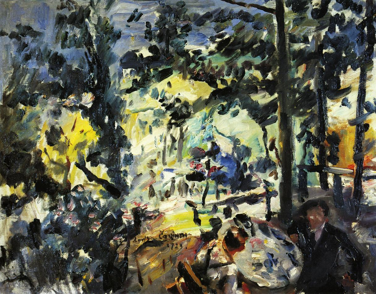 The Walchensee On the Terrace | Lovis Corinth | oil painting